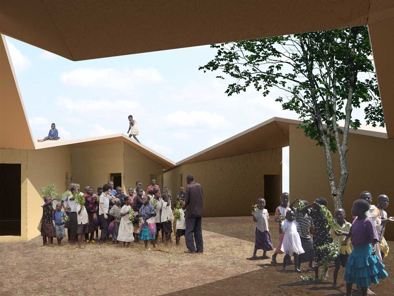 Holcim Awards Silver 2008 Africa Middle East: Low-cost school and home for HIV orphans, …