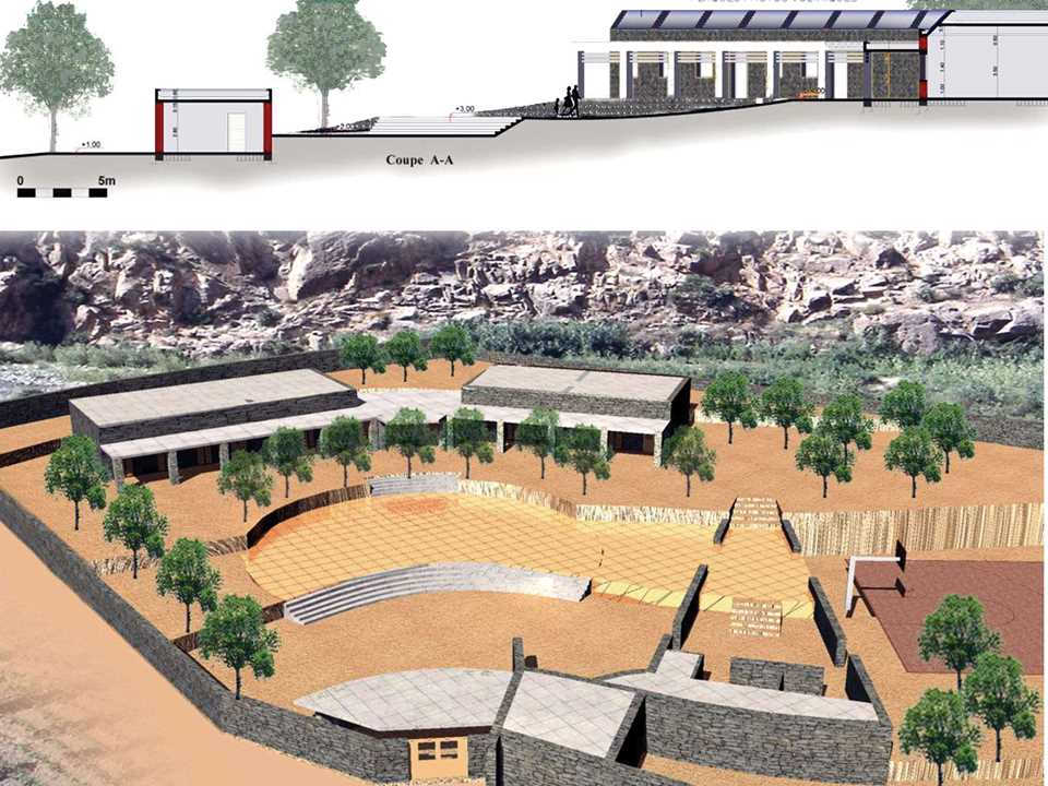 Holcim Awards Gold 2005 Africa Middle East: Socioeconomic equipment in a mountain village, …
