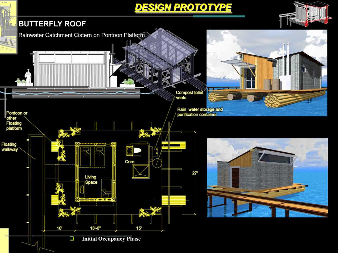 """Holcim Awards """"Next Generation"""" 1st prize 2008 Africa Middle East: Amphibious dwellings in …"""