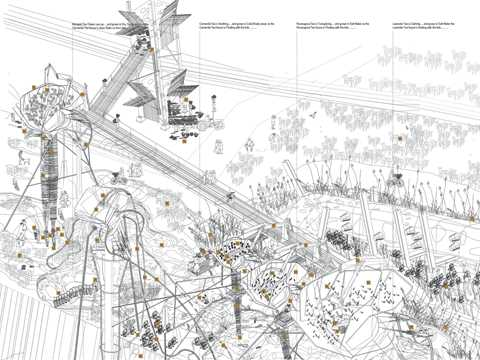 """Project entry 2008 Europe - """"Production and ecological cluster, New Haven, United …"""