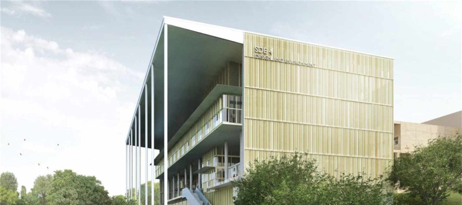 The new School of Design & Environment building at the National University of Singapore …
