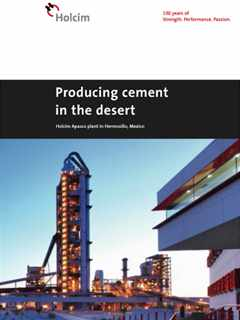 Producing cement in the desert