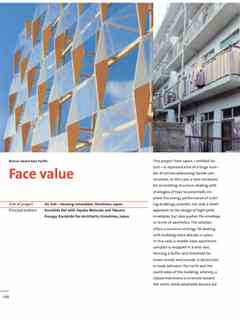 """""""Face value"""" in First Holcim Awards for Sustainable Construction 2005/2006"""